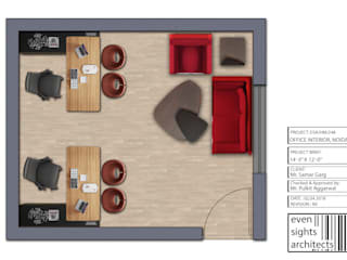 FLOOR PLAN:  Floors by EVEN SIGHTS ARCHITECTS