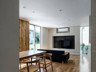 松岡淳建築設計事務所 Ruang Keluarga Modern