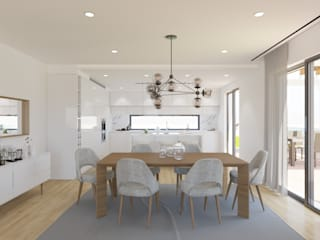 Minimalist dining room by DR Arquitectos Minimalist