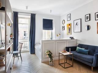 Mieszkanie w kamienicy na Powiślu : styl , w kategorii Salon zaprojektowany przez OIKOI