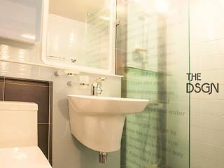 캐주얼하게! 밋밋한 파티션은 재미없어_욕실 에클레틱 욕실 by homify 에클레틱 (Eclectic)