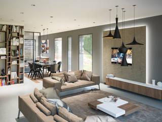 Projet 3D maison réHome Salon moderne