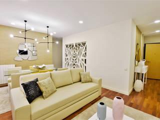Projecto de Design de Interiores e mobiliário - apartamento de Férias no coração da cidade da Figueira da Foz Salas de estar modernas por Victor Bertier Design Moderno