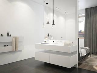 Plan 3D rénovation réHome Salle de bain moderne