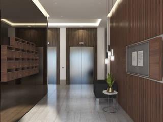 Duygu Solaker  – Apartman Giriş ve Asansör Holü:  tarz Koridor ve Hol