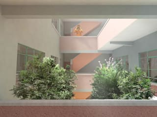 Eclectic style corridor, hallway & stairs by RA! Eclectic
