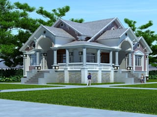 Thiết kế biệt thự phố 1 tầng - Anh An(Nam Định) bởi Biet Thu Pho Dep