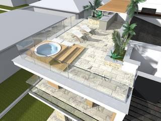 Complesso residenziale: Terrazza in stile  di ALMA Architettura | Mario Pan | Alessandro Pezzotti