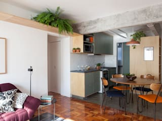 INÁ Arquitetura Pasillos, vestíbulos y escaleras de estilo moderno