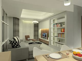 Project Apartemen Taman Anggrek Ruang Makan Modern Oleh PT. Magnolia Adi Sentosa Modern