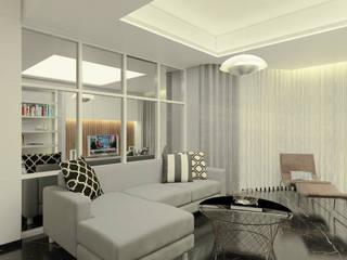Project Apartemen Taman Anggrek Ruang Keluarga Modern Oleh PT. Magnolia Adi Sentosa Modern
