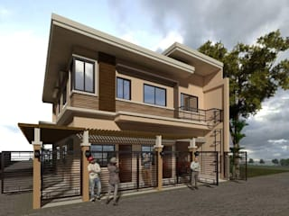 Two (2) Storey Residential-Commercial Building by Baylon+Sagabaen|Architects Minimalist