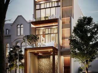 Rumah Pak Welki (Exterior) Rumah Modern Oleh nakula arsitek studio Modern