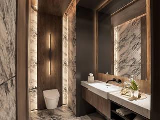 Interior Kartika House Kamar Mandi Modern Oleh nakula arsitek studio Modern