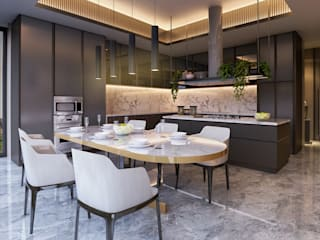 Interior Kartika House Ruang Makan Modern Oleh nakula arsitek studio Modern