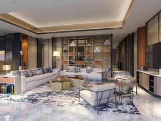 Interior Kartika House Ruang Keluarga Modern Oleh nakula arsitek studio Modern