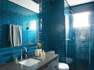 INÁ Arquitetura Baños de estilo moderno Azul