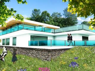 Casa Vista Principal:   por wipeout - arquitetura, engenharia e construção, unp, lda