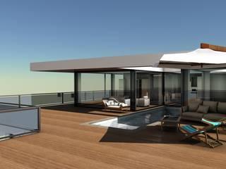 Vista do Terraço:   por wipeout - arquitetura, engenharia e construção, unp, lda