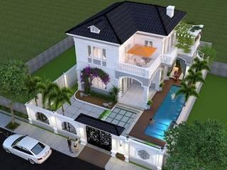 Dự án thiết kế biệt thự phố 2 tầng– Anh Quang (Đà Nẵng) bởi Biet Thu Pho Dep