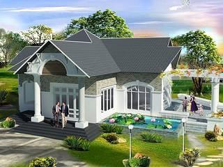 Dự án thiết kế biệt thự nhà vườn 1 tầng – Anh Hùng (Thái Bình):   by Biet Thu Nha Vuon