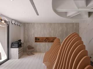 Estudios y oficinas modernos de 層層室內裝修設計有限公司 Moderno