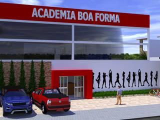 Estudo de Projeto - Academia Boa Forma:   por Gabriel Cavalcante Arquitetura