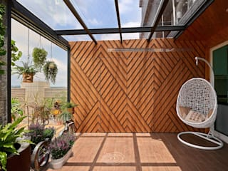 層層室內裝修設計有限公司 Balcon, Veranda & Terrasse modernes