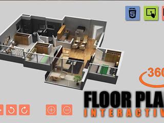 Virtual Reality Floor Plan By Yantram Virtual Reality Studio New York, USA Klasik Klinikler Yantram Architectural Design Studio Klasik