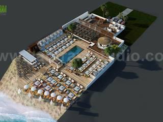Beach Restaurant Floor Plan Example & Ideas by Yantram floor Plan design companies - Paris, France Yantram Architectural Design Studio