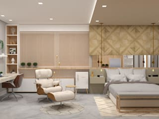 Phòng ngủ phong cách hiện đại bởi Confi Arquitetos Hiện đại