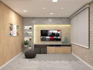 Living room by Confi Arquitetos