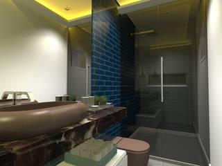 Casas de banho modernas por ARCHLAYOUT Arquitetura e Interiores Moderno
