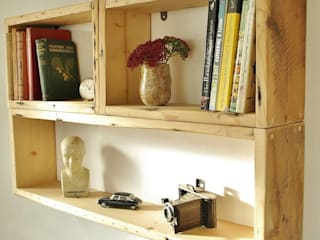 Salvaged Wooden Shelving:   by Seagirl and Magpie