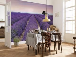 FOTOMURALES FLORALES Paredes y pisos de estilo rural de Muro Rural