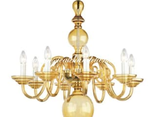 Coloured Contemporary Chandeliers Classical Chandeliers Living roomLighting Amber/Gold