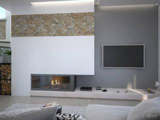 Progetto interior design - 3D - Capo d'Orlando (ME): Soggiorno in stile  di Santoro Design Render