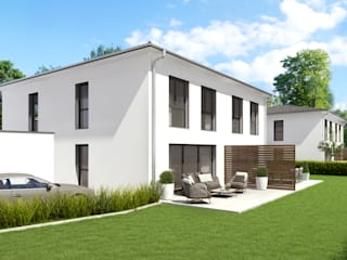 La Casa Wohnbau - 4 Doppelhaushälften: moderne Häuser von La Casa Wohnbau