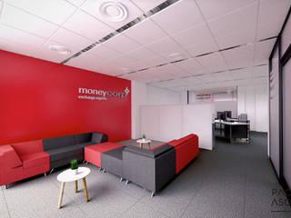 Entrada principal y sala de espera Moneycorp: Estudios y despachos de estilo minimalista de Pacheco & Asociados