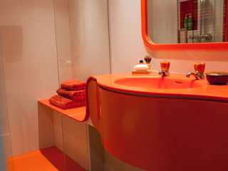 Orange Coloured Bathroom:  Bathroom by Solidity Ltd