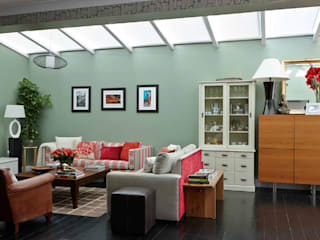 Wimbledon Village, SW19: eclectic Living room by INTERIORS:designed