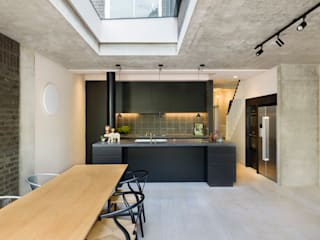 view towards island kitchen :  Kitchen by Gundry & Ducker Architecture