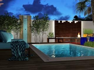 Para dia ou para a noite: Piscinas  por Trivisio Consultoria e Projetos em 3D