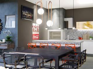 Área de lazer Perfeita: Cozinhas  por Trivisio Consultoria e Projetos em 3D