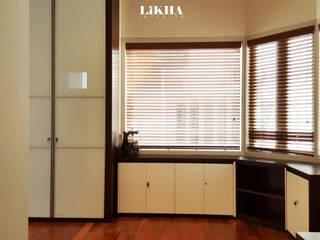 Area Ruang Kerja Ruang Studi/Kantor Modern Oleh Likha Interior Modern Kayu Lapis