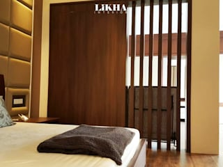 Likha Interior Modern style bedroom Plywood Wood effect