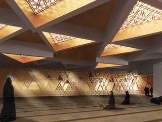 Концепция современной мечети в Дубае Стены и пол в стиле минимализм от ECOForma Минимализм