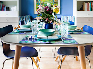 Eclectic style dining room by Regina Dijkstra Design Eclectic