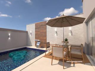 Modern Pool by Bruna Santarosa Arquitetura e Interiores Modern