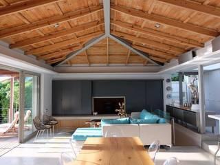 Clifton Beach House 3, Clifton Fourth Beach Modern living room by Van der Merwe Miszewski Architects Modern